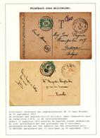 808/29 - TAXATION Sur Poste Militaire - 2 X Carte-Vue Postes Militaires 4 Et 10 1923 - Taxées 10 C - S/Feuille D'Album - Poststempel