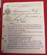 DOCUMENTO  BAUMANN WOLF PARIS 24.JUIN.1910 - Portugal
