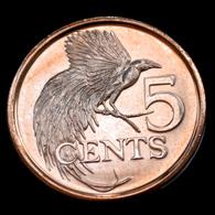 Trinidad And Tobago 5 Cents (Magnetic) 2017. South America Coin UNC Animal-bird - Trinité & Tobago