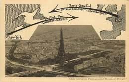 PARIS  TOUR EIFFEL  New York / Paris Paris / New York  AVIATEURS Costes & Bellonte  Et Lindberg - Frankreich