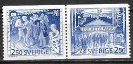 Suède 1991 N°1651/1652 Neufs En Paire Parcs D'attractions - Suède