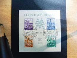 Leipziger Messe Bl. 5 Xa Gestempelt - Sowjetische Zone (SBZ)