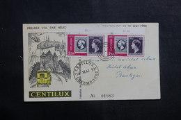 LUXEMBOURG - Carte 1er Vol Par Hélicoptère En 1952 Pour Bastogne , Affranchissement Plaisant- L 41321 - Luxemburg
