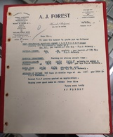 DOCUMENTO A.J.FOREST BRUSSELS BELGIUM 208 RUE HAERNE 26.6.1910 - Portugal
