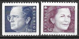 Suède 1991 N°1645 Et 1681 Neufs Roi Et Reinne - Sweden