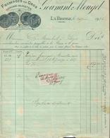 Vieux Papier - Facture -  Gounant Mougel à La Bresse  - 1916  - Vosges -  Commerce En Gros Fromages En Gros - France