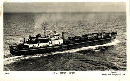 RPPC S.S. EMPIRE DORIC BRITISH CARGO SHIP - Cargos