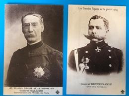 Grandes Figures De La Guerre 1914 Lot 8 CP - Guerre 1914-18