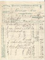 Vieux Papier - Facture -  Parisse à Larrière Près Val D'Ajol   - 1894  - Vosges -  Fabrique Ustensiles De Ménage - France