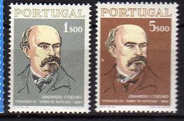 """Portugal  N° 953 / 54 XX  : Centenaire Du Journal """"Diario De Noticias"""" La Paire Sans Charnière, TB - 1910-... République"""