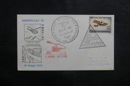 SAINT MARIN - Enveloppe Par 1er Vol Par Hélicoptère En 1970 Saint Marin / Riccione - L 41323 - Lettres & Documents