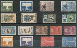 EUROPA - CEPT 1957 Complet - 17 Val Neufs // Mnh // Cv €190 - 1957
