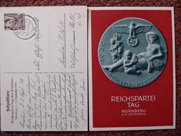 Dt Reich Ganzsache Drittes Reich Propagandakarte Reichsparteitag 1939 O Bedarf ! - Ganzsachen