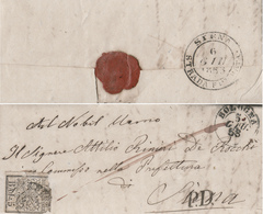 CM026 1853 PONTIFICIO X TOSCANA Con PD ANOMALIA LEGA AUSTRO-ITALICA (vedi Descrizione) - Stato Pontificio