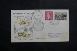 BELGIQUE - Enveloppe 1er Vol Par Hélicoptère En 1953 Bruxelles / Cologne - L 41331 - Brieven En Documenten