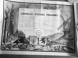 R F CERTIFICAT D'ETUDES PRIMAIRES à BERLAIMONT  (NORD) 1941 - Diplômes & Bulletins Scolaires
