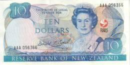 NEW ZEALAND $10 JAMES COOK WMK COMMEMORATIVE WAITANGI TREATY HEAD OF QEII BIRD FRONT  1990 P. 176  READ DESCRIPTION!!!!! - Nuova Zelanda