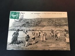 4494 - ROTHENEUF La Plage Du Havre - La Peche Aux Lançons - 1908 Timbrée - Rotheneuf