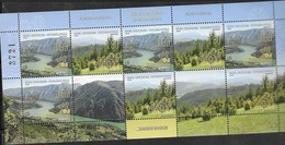 BOSNIA SERB, 2019, MNH, NATURE PROTECTION, MOUNTAINS, LAKES, LANDSCAPES, SHEETLET OF 8v - Geology