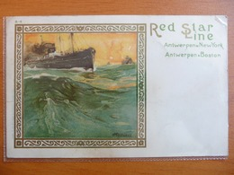 CPA -  Red Star Line - Antwerpen -New York -Boston - 1922 - Litho Cassiers - Dampfer