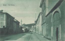 BRONI-PAVIA-VIA EMILIA-CARTOLINA VIAGGIATA ANNO 1920-1930 - Pavia