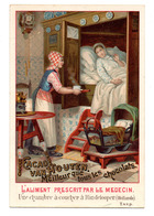 Chromo Chocolat Cacao Van Houten Hollande Pays Maternité Chambre Maman Bébé Berceau Servante Horloge Grand Format - Van Houten
