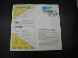 "BELG.1991 2404 Filatelic Feuillet FR.(Angleur) : "" Journée Du Timbre 1991 Dag V/d Postzegel "" - FDC"