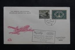 LUXEMBOURG - Enveloppe Par Vol Spécial Par Hélicoptère Bruxelles / Bonn En 1958 - L 41350 - Luxemburg