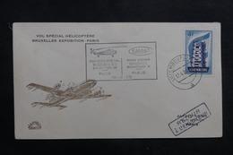 LUXEMBOURG - Enveloppe Par Vol Spécial Par Hélicoptère Bruxelles / Paris En 1958 - L 41351 - Luxembourg