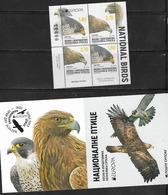 BOSNIA SERB,  2019, MNH, EUROPA , BIRDS, BIRDS OF PREY, IMPERFORATE VARIETY, BOOKLET OF 4v - 2019