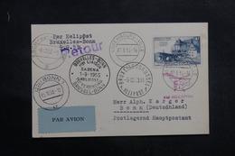 BELGIQUE - Carte Par 1er Vol Par Hélicoptère Bruxelles / Bonn En 1953 - L 41353 - Luxemburg