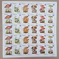 EC126 1984 PARAGUAY FLORA NATURE MUSHROOMS !!! BIG SH FOLDED IN 2 MNH - Pilze