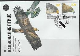 BOSNIA SERB , 2019, EUROPA, BIRDS OF PREY, FDC - 2019