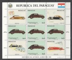 EC133 1986 PARAGUAY TRANSPORTATION CARS AUTOMOBILES GERMANY MAYBACH 1KB MNH - Cars