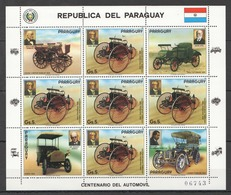 EC143 1986 PARAGUAY TRANSPORTATION CARS AUTOMOBILES 1KB MNH - Cars