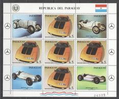 EC145 1982 PARAGUAY TRANSPORTATION SPORT CARS AUTOMOBILES RACING 1KB MNH - Cars