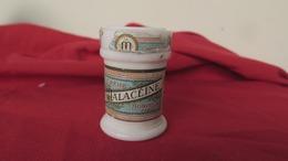 Ancien Pot En Opaline Blanche, Crème Malacéïne Par La Parfumerie Monpelas - Beauty Products