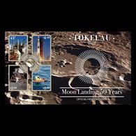 Tokelau 2019 FDC Moon Landing 50 Years Space. Apollo 11 - FDC & Gedenkmarken