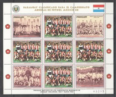 EC155 1986 PARAGUAY SPORT FOOTBALL WORLD CUP MEXICO 1986 !!! MICHEL 24 EURO !!! 1KB  MNH - 1986 – Mexico