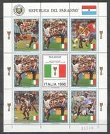 EC157 1989 PARAGUAY SPORT FOOTBALL WORLD CUP ITALY 1990 !!! MICHEL 38 EURO !!! 1KB MNH - Copa Mundial