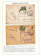 821/29 - TAXATION Sur Poste Militaire - 2 X Carte-Vue Postes Militaires Belges 1 Et 2 En 1924 - Taxées 10 C à BXL - Poststempel