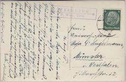 Österreich - Weerberg P. Weer Postablage Ra2 Karte (sw-AK) N. München 1938 - Austria