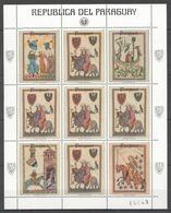 EC169 1983 PARAGUAY ART HORSES KNIGHTS 1KB MNH - Art