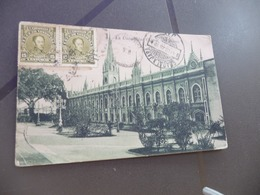 CPA  Vénézuela La Universidad 2 Old Stamps    Paypal  Ok Out Of EUrope - Venezuela