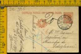 Regno Cartolina Intero Postale Michetti San Vito Al Tagliamento Udine Sedegliano - Storia Postale