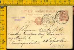 Regno Cartolina Intero Postale Floreale Collettoria Affori Ed Uniti Napoli - 1900-44 Vittorio Emanuele III