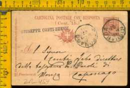 Regno Cartolina Intero Postale Floreale Milano Niguarda Caponago - 1900-44 Vittorio Emanuele III