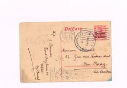 Entier Postal à 10 Centimes.Expédié De Bruxelles à Den Haag (Censure Emmerich) - Occupation Allemande
