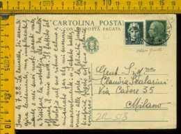 Regno Cartolina Intero Postale Imperiale Gavirate Milano - Storia Postale