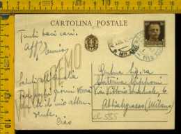 Regno Cartolina Intero Postale Imperiale San Cesareo Lecce Abbiategrasso - 1900-44 Vittorio Emanuele III